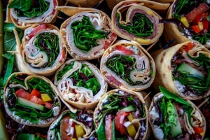 tray of wraps top view 1 21 15
